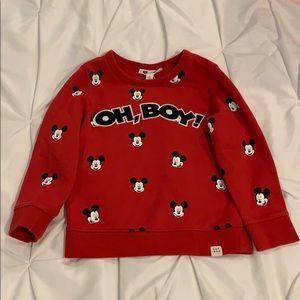 Baby Gap Mickey Mouse Boys sweatshirt 5T